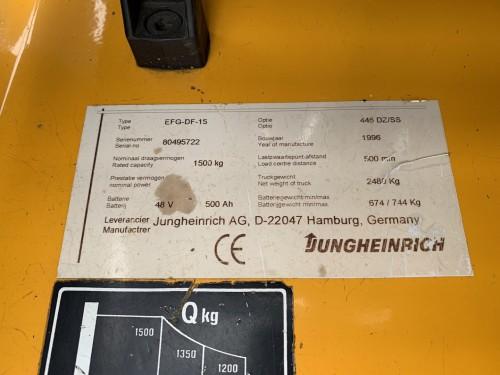Jungheinrich 1,5 ton elektrische vorkheftruck clark heftruck 3