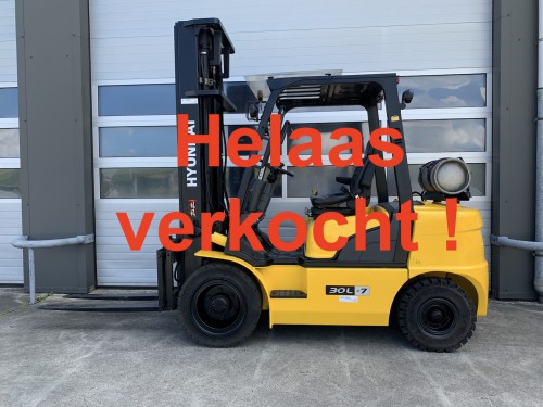 www.gebruikteheftrucks.net Hyundai 30L-7 LPG Gas heftruck forklift hyster bt toyota hyundai still linde jungheinrich clark nissan .JPG