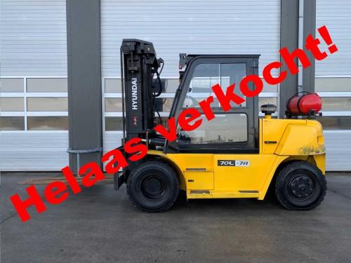 www.gebruikteheftrucks.net Hyundai 70L-7A 7 ton LPG heftruck machine verkocht