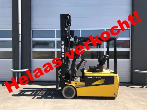 www.gebruikteheftrucks.net Hyundai HBF18-T elektrische heftruck machine verkocht