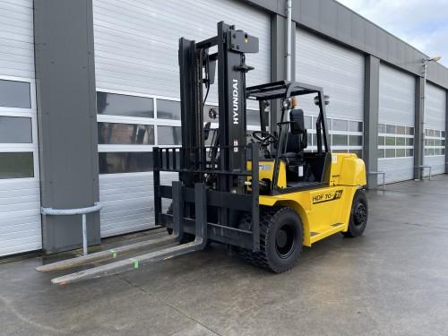 www.gebruikteheftrucks.net Hyundai HDF70-7S diesel machine 7 ton forklift gabelstapler 7000kg heavy zware vorkheftruck Hyster Kalmar SMV Doosan Linde2