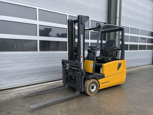 www.gebruikteheftrucks.net Jungeheinrich EFG216 1600kg hefvermogen 1,6 ton elektrische heftruck electric forklift Gabelstapler Still Hyundai Doosan Linde CAT vorkversteller 1