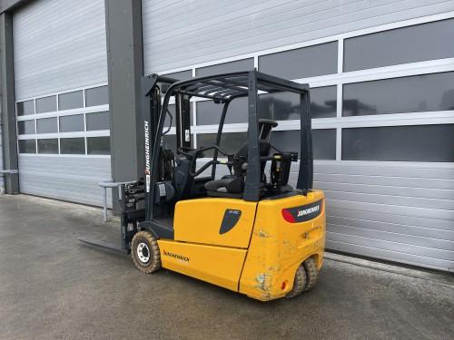 www.gebruikteheftrucks.net Jungeheinrich EFG216 1600kg hefvermogen 1,6 ton elektrische heftruck electric forklift Gabelstapler Still Hyundai Doosan Linde CAT vorkversteller 2
