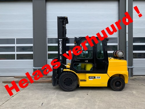 www.gebruikteheftrucks.net LPG verhuurd Hyundai 45L-7A