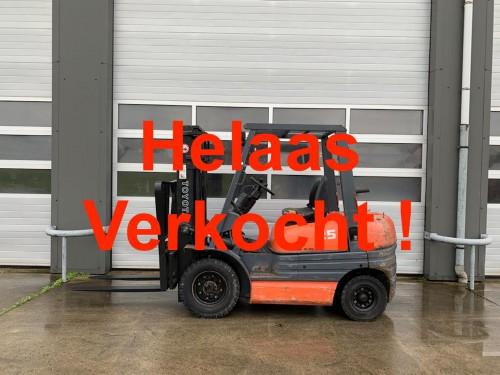 www.gebruikteheftrucks.net Toyota 62-6FD25 diesel heftruck forklift vorkheftruck 2500kg duplo mast Hyster Yale Jungheinrich Linde Still Doosan Toyota BT Hyundai kopie