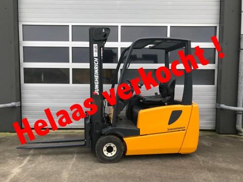 www.gebruikteheftrucks.nl elektrische heftruck verkocht Jungheinrich 1.6 ton