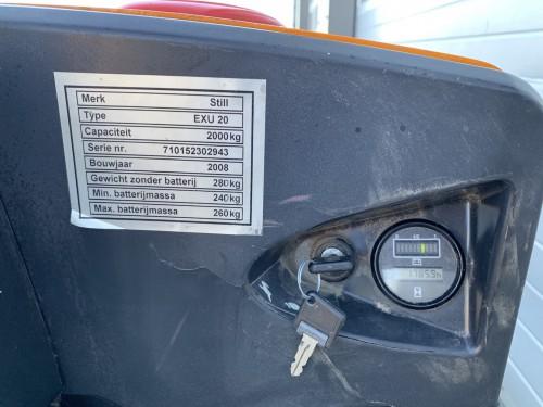www.gebruikteheftrucks.net gebruikte Still EXU20 palletwagen pompwagen linde hyundai toyota jungheinrich elektrische pallet wagen 4